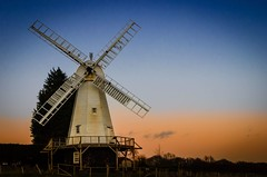 Woodchurch Mill (Jez22) Tags: wood old blue sunset england sky copyright white color building mill windmill beautiful weather parish architecture rural landscape evening wooden kent twilight energy europe colours village wind britain background traditional rustic working sails nobody landmark historic rotation smock milling rotate sweeps kentish woodchurch jeremysage potd:country=gb skyscapecountryside