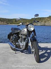 1955 490cc Norton ES2 (Digidiverdave) Tags: norton motorcycle menorca classicbike davidhenshaw