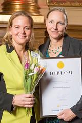 Anna Berglund och Maria Tungström från Swedavia, nominerad till Web Service Award 2013 i klassen Mobil/app.