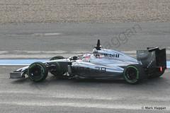 Jenson Button in his McLaren at Formula One Winter Testing 2014 (MarkHaggan) Tags: cars sport spain f1 grandprix mclaren formulaone button circuit formula1 jenson motorracing jerez motorsport s2 daytwo jensonbutton wintertesting formulaonewintertesting2014 cuircuitodejerez wintertesting2014