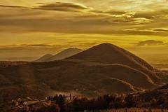 Colli Euganei (tampurio) Tags: sunset sky italy panorama sun sunlight tree clouds sunrise landscape italia tramonto nuvole sony s cielo tramonti paesaggi paesaggio colli euganei concordians slta58