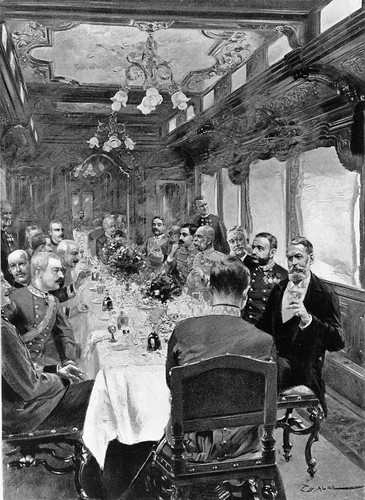 Imperial dining on the Emperor's Train