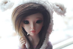 . (CaylaMay) Tags: winter portrait snow cute canon toy photography model doll sheep kawaii lamb bjd resin abjd washedout dollie balljointeddoll balljointdoll minifee canon60d canonclub resindoll fairylandminifee fairylanddolls minifeeceline fairylandceline resinlover
