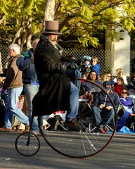 Not seen on TV (Prayitno / Thank you for (11 millions +) views) Tags: california ca old roses classic bike bicycle wheel rose big antique unique small tire parade tournament pasadena 2014 konomark