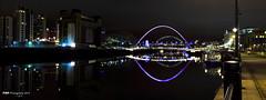 Tyne Millennium Bridge and Sage (PAULMKING) Tags: bridge river newcastle millenium panoramic tyne gateshead