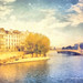 Digital Pastel Drawing of Ile Saint-Louis from Ile de la Cite