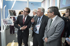 Alexander Dobrindt, Frédéric Cuvillier and José Viegas, in discussion during the VIP Exhibition Walk-around