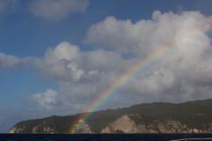 IMG_0434 (jaglazier) Tags: trees panorama rain clouds islands landscapes seascapes january carribean cliffs rainbows atlanticocean forests stlucia deciduoustrees 2014 soufrire soufriere saintlucia 11014 lepitons copyright2014jamesaglazier