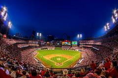 Busch Stadium (Michael_Burger) Tags: park field night ball angle baseball stadium interior wide diamond fisheye busch