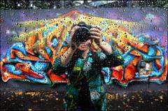 Berns (un peu mouillé) (Chrixcel) Tags: paris reflection graffiti mirror photo autoportrait tag pluie reflet graff miroir objectif berns mouillé ourcqlivingcolors