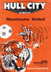 Hull City vs Manchester United - 1974 - Cover Page (The Sky Strikers) Tags: park city manchester tiger united hull snarling boothferry