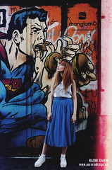 Strange Little Girl photoshoot (Naomi Rahim (thanks for 3 million visits)) Tags: street italy rome roma girl fashion vintage graffiti model italia photoshoot hipster redhead indie editorial quirky alternative naomirahim