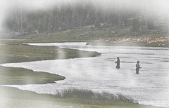 In_The_Seam-Q1406hh (Guyser1) Tags: fog river landscape fishing nikon scenic yellowstone flyfishing nikond3200 fireholeriver yellowstonepark d3200 yellowstonenationalpart