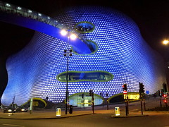 The Selfridges Building at night -  Bullring Shopping Centre, Birmingham, UK    {Explore - 12/07/2014 - Highest Position 9} (Andy_Hartley) Tags: city uk architecture night birmingham landmark architectural explore bullring futuresystems flickrexplore bullringshoppingcentre explored selfridgesdepartmentstore selfridgesstore steelframework