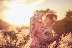 IMG_6138 (Keven Chiou) Tags: serene liu girl 浴衣 台灣 taiwan taipei model 逆光 芒花 陽明山 後製 薩琳