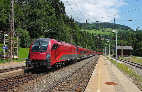Railjet from Prague to Graz HBF.