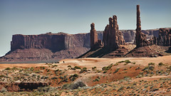 travels on the healing road (cherryspicks (intermittently on/off)) Tags: landscape desert travel monumentvalley navajo totempole rider horse usa west western rocks geology iconic healingroad outdoor