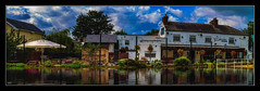 The Waterside Inn (Kevin, (Away 21 Oct / 9 Nov) Traveling) Tags: architecture bridgewatercanal canal canon1100d canon1855mm england hdr kevinwalker lancashire manchester monton northwest panorama panoramic reflection scenics sky thewaterside tranquil waterfront waterways