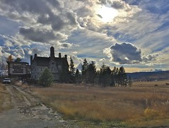 Castle in Clouds (Rock Water) Tags: clouds stonehouses castles rurallife autumn