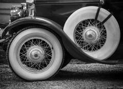 tete-beche (CTfoto2013) Tags: roue car automobile voiture bw detail shape formes nb bn blancoynegro noiretblanc abstrait abstract retro vintage ancien antique lumix panasonic gx7 mirrorlesscamera micro43