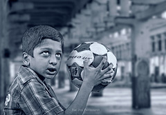 The Beginning (Ram Iyer Photography) Tags: ramiyer canonguy canon5dmkii blackwhite blackandwhite sports kids children composite composition compositing compo adobe photoshop world spectacular advertisement commercial lighting hdr