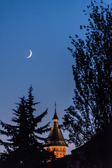 Sky is the limit (Ewald Photography) Tags: ewald photography moon sky night dark church timisoara romania