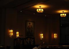 Luxemburg hotel Mercure Alfa restaurant verlichting