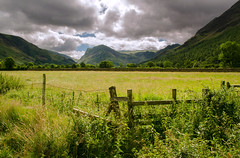 Buttermere clouds (SimonLea2012) Tags: d7000 nikon scenery landscape green england uk lakedistrict grass wall style gate fence walk mountains lake clouds sky stile
