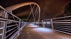 the unknown target (explored 2016-10-17) (bocero1977) Tags: night building bridge water germany hdr bow clouds longexposure tree river eggslicer path architecture lines way colors light sky