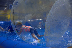 In The Bubble (swong95765) Tags: fun entertainment bubble balls water kids girl coordination motion plastic