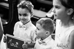Merci (Happy Adi) Tags: wedding blackandwhite bw enfants kids church eglise canon 60d reflex moment instant memories souvenirs 50mm joie ardoise tableau craie merci noir blanc jeune retro vintage