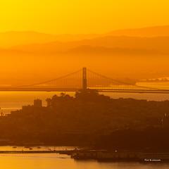 Sunrise colors (davidyuweb) Tags: sunrise colors bay bridge sanfrancisco coit tower luckysnapshot sfist