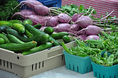 Fresh vegetables at market (Perl Photography) Tags: turnips beets cucumbers peas green purple food vegetables agriculture organic farm garden nutritious healthy farmersmarket porduce cooking daikonbeet
