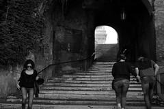 Salita dei Borgia (Roma) (D'Angelo Salvatore) Tags: black white monocromo light city street strada people architecture rome
