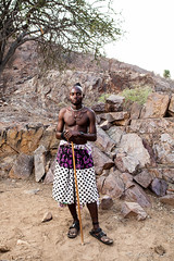 Unmarried Himba Man 4031 (Ursula in Aus) Tags: africa namibia offcameraflash himba portrait male