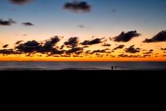 Uno e Nessuno (FufBea) Tags: sea seascape sunset tramonto alone one uno marinadibibbona mare toscana tuscany italia italy longexposure lungaesposizione clouds nuvole