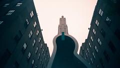 Rockefeller Center (Jim Davies) Tags: photography analogue film veebotique 35mm vivitar ultrawideandslim uws plastic toycamera kodak ektachrome 160t 160asa slidefilm crossprocessed xpro e6 c41 expired hardexpired newyorkcity nyc newyork manhattan bigapple