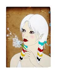 bay blanket girl #3 (christopher hayes artist) Tags: hudson bay blanket hair christopher hayes dandelion canadian pop art
