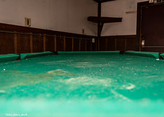 Abandoned Bar: Pool Table Felt (that_damn_duck) Tags: abandoned urbex urbanexplorer pooltable decaying greenfelt billiards