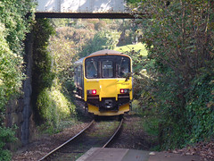 150102 Carbis Bay (2) (Marky7890) Tags: gwr 150102 class150 sprinter 2a24 carbisbay railway station cornwall train stivesbayline