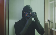 Cat Burglar (CatBurglar Vn) Tags: cat burglar masked glove blaclava robber