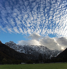 Logar valley 03 (Vid Pogacnik) Tags: slovenia slovenija autumn outdoor landscape hiking mountain kamnikandsavinjaalps clouds valley meadow cloud sky