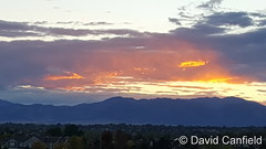 October 1, 2016 - Sunset colored in pastels as seen from Broomfield. (David Canfield)