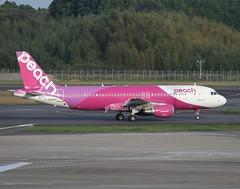 Peach                                      Airbus A320                                       JA805P (Flame1958) Tags: peach peachair peachairlines peachairways peachjapan peacha320 ja805p airbusa320 airbus a320 320 tokyonarita tokyonaritaairport naritaairport 1016 2016 tokyo aviationjapan japanairports nrt rjaa  newtokyointernationalairport  354555n1402308e 141016 1576