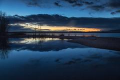 The Blue Hour (mclcbooks) Tags: sunrise dawn daybreak sky morning landscape seascape clouds reflections lakechatfield chatfieldlakestatepark colorado autumn fall longexposure le bluehour moon