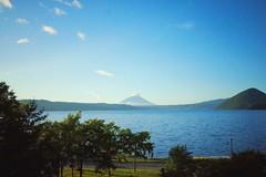 Lake Toya & Mount Yotei (Gai) Tags:    toya hokkaido japan   summer  countryside  sky  plant  green  blue   lake  mountain  tree  cloud   sunny