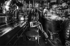 Il caff, la mattina, per Sant'Ambrogio (salvatorerizzo3) Tags: santambrogio milano break bar sony bw blackwhite