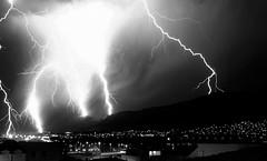 Thunders... (Leonardo oga) Tags: blackandwhite solin croatia thunder night sky leonardo oga adriatic sea storm