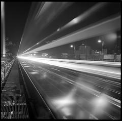 231st, Bronx, NY (OQ62) Tags: film analog yashicamat124g 231 231st subway bronx gothamist 1 newyorkcity nyc long exposure longexposure blackandwhite yashica mat 124g ilford hp5 plus ilfordhp5plus 400 kingsbridge 120 medium format mediumformat 6x6