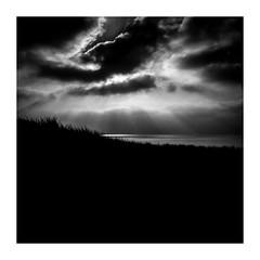 hiding (seba0815) Tags: ricohgrdiv monochrome sea seaview sky sun suns sunlight sunbeam beach dramatic melancholy reflection clouds square seba0815 bw blackwhite blackandwhite blanco black blanc blackwhitephotos noir nero schwarzweis white landscape mood
